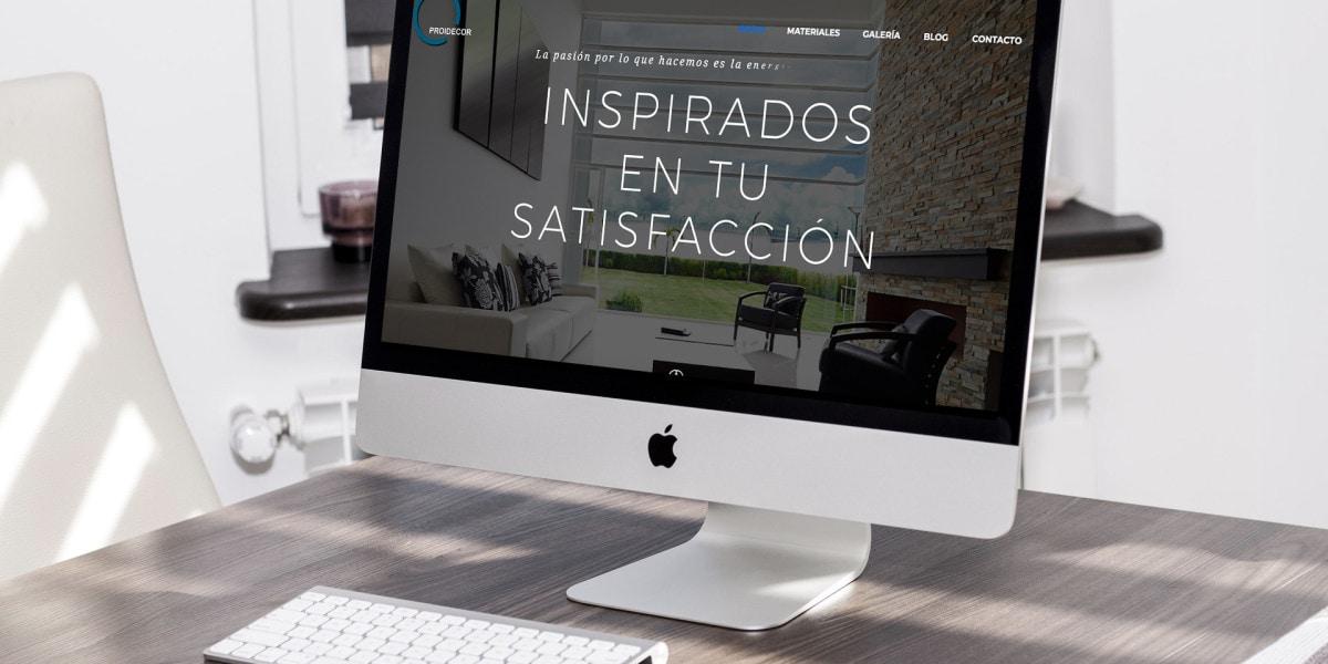 Diseño Web en Tenerife - Proidecor, por SomosMarketes